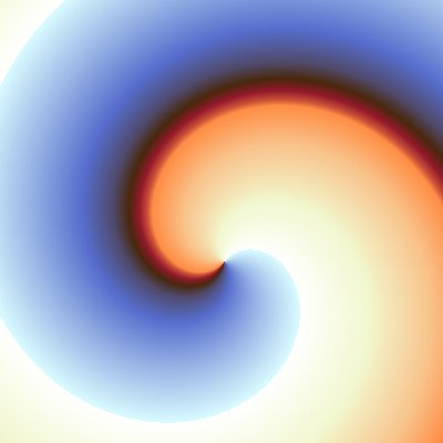 spiral gradient, sunrise theme